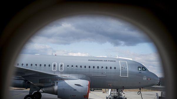 A Magyar Honvédség egyik Airbus A319 repülőgépe