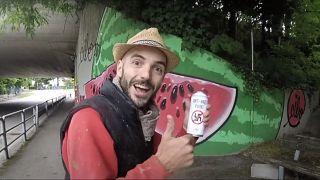 Italian street artist,  CIBO