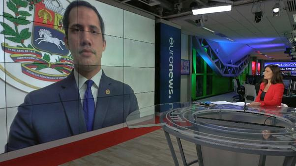 Ana Buil entrevistando a Juan Guaidó, presidente de la Asamblea Nacional de Venezuela y presidente encargado de Venezuela
