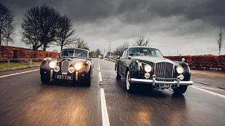 A restored Jaguar and Bentley