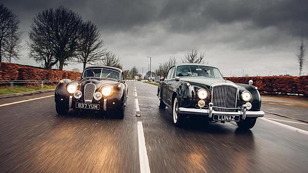 A restored Jaguar and Bentley