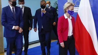 Встреча глав Польши, Венгрии и Чехии с главой Еврокомиссии.