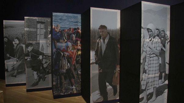 Exposição sobre os refugiados em Londres