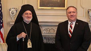 Ο Αρχιεπίσκοπος Αμερικής Ελπιδοφόρος κι ο Υπουργός Άμυνας των ΗΠΑ Μάικ Πομπέο