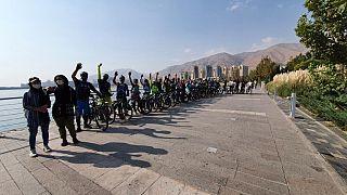 دوچرخهسواران تهرانی در روز سهشنبههای بدون خودرو