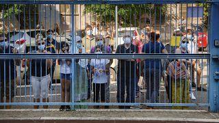 Protestos por segurança nas escolas face à Covid