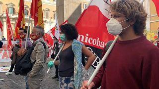 Streikende Lehrer in Rom