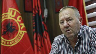 Hysni Gucati, head of the War Veterans Organization of the Kosovo Liberation Army, Sept. 24, 2020.