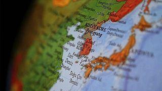 Kore yarımadası haritası