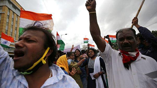 اعتراض کشاورزان هندی به قانون جدید اصلاحات کشاورزی