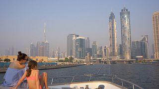 Exploring Dubai's iconic coastline by boat