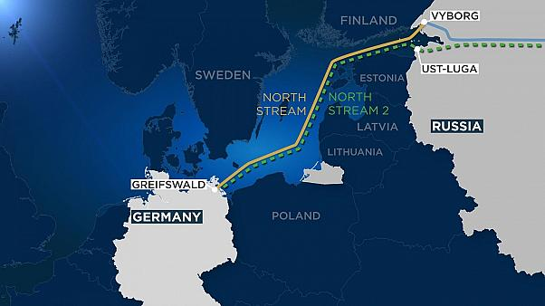 The Nord Stream 2 route runs parallel to the existing pipeline