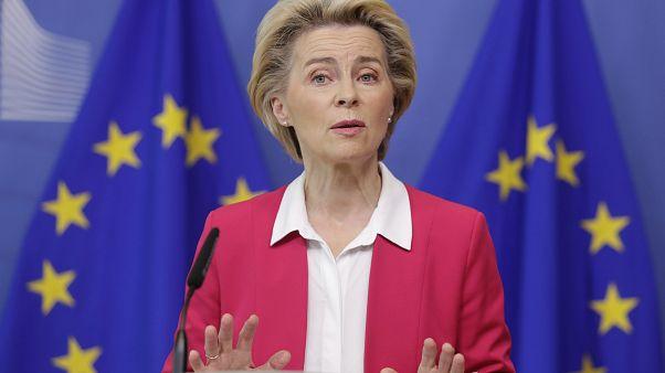 European Commission President Ursula von der Leyen on Wednesday, Sept. 23, 2020.