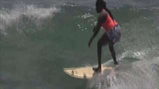 Senegal's First Professional Surfer Khadjou Sambe is Making Waves