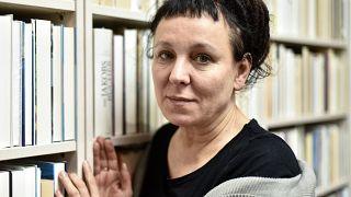 Polish writer and Nobel Prize winner Olga Tokarczuk  in Duesseldorf, Germany, on Oct. 11, 2019.