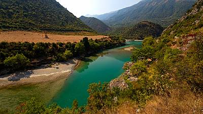 The Vjosa River is Europe's last free-flowing river.