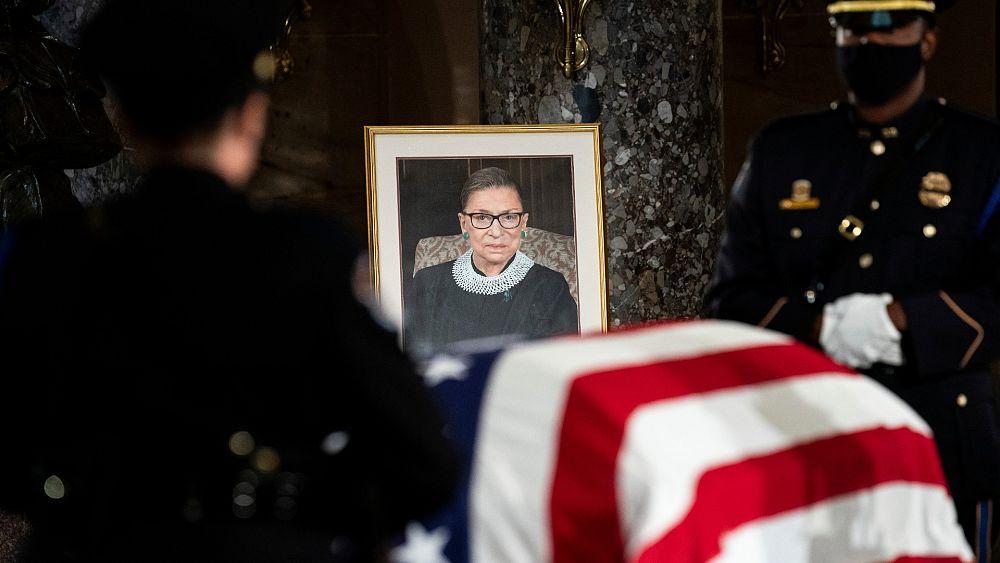 ABD Yüksek Mahkemesi Yargıcı Ginsburg'un cenazesi Kongre'de