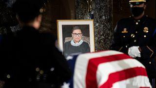 ABD Yüksek Mahkemesi Yargıcı Ruth Bader Ginsburg'un cenazesi Kongre'ye getirildi