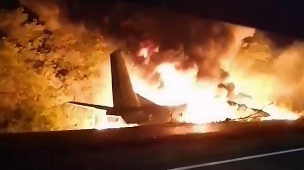 سقوط هواپیمای نظامی اوکراینی
