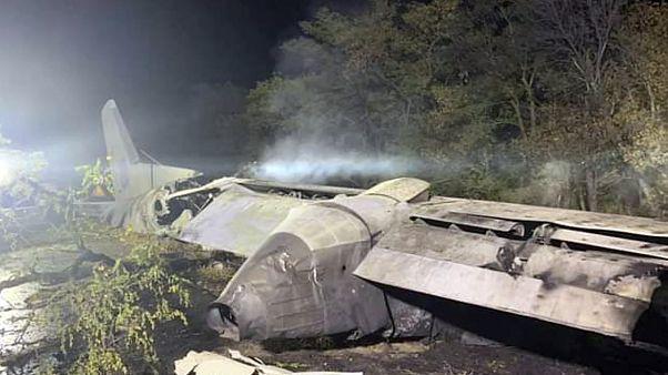 Место падения самолёта АН-26 в Харьковской области