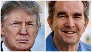 Donald Trump amerikai elnök és Ralph Northam virginiai kormányzó