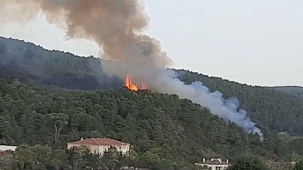 Anadolu Hisarı'nda yangın