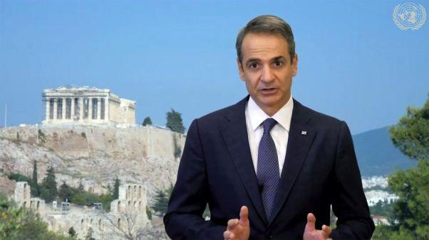 Yunanistan Başbakanı Kyriakos Mitsotakis BM Genel Kurulu'na video konferans ile katıldı