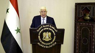 وزير الخارجية السوري وليد المعلم يتحدث في رسالة مسجلة خلال الدورة 75 للجمعية العامة للأمم المتحدة