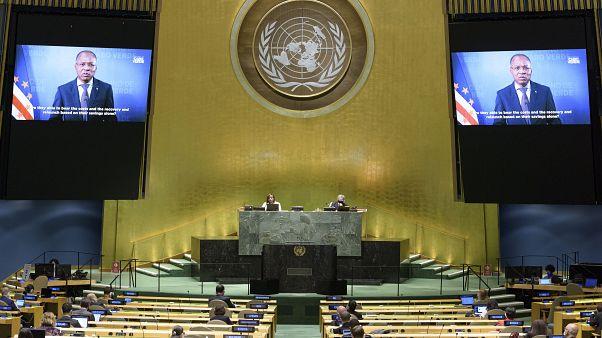 كلمات رؤساء وممثلي الدول في منظمة الأمم المتحدة تم إلقائها عبر الفيديو هذه السنة