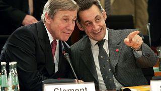 Wolfgang Clement (links) mit Nicolas Sarkozy im Jahr 2004