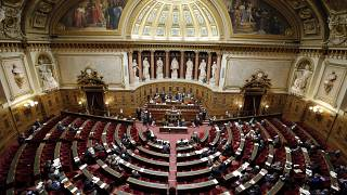 FILE - This Thursday, Dec. 11, 2014 file photo shows a general view of France's Senate