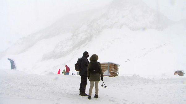 60 cm Schnee im September im österreichischen Stubaital