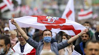 Nouvelle manifestation au Bélarus contre Alexandre Loukachenko, le dimanche 27 septembre 2020