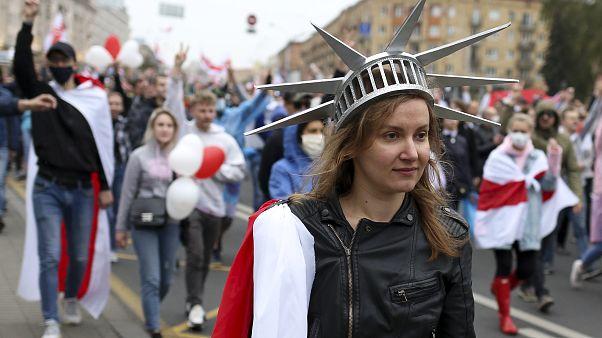 Belarus'ta Cumhurbaşkanı Lukaşenko karşıtı eylemler seçimlerin yapıldığı 9 Ağustos'tan bu yana devam ediyor.