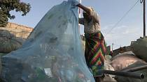 Recycling plastics in Mozambique