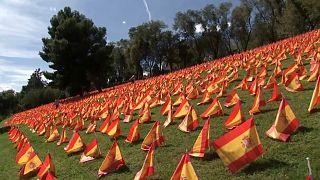 Πλημμύρισε σημαίες η Μαδρίτη στη μνήμη των θυμάτων του Covid-19