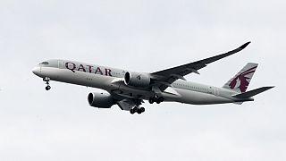 طائرة تابعة للخطوط القطرية تقترب من مطار فياتدافيا. 2019/11/07