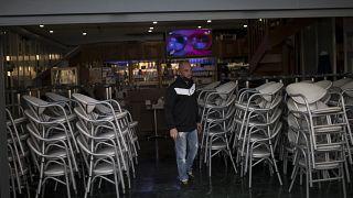 Los bares y restaurantes han cerrado en Marsella (Francia)