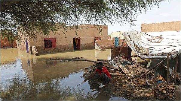 أحد الأحياء الفقيرة في السودان