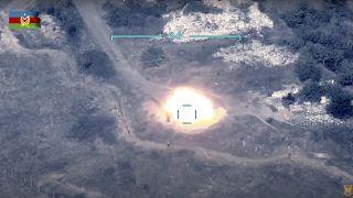 القوات الأذرية تدمر نظام الدفاع الجوي الأرمني