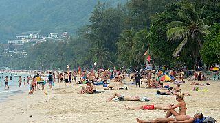 Tayland'da bir plaj