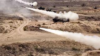 إطلاق صاروخ من قاعدة أشولوك العسكرية جنوب روسيا في22 سبتمبر 2020