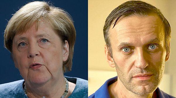 German Chancellor Angela Merkel visited Alexei Navalny in hospital in Berlin.