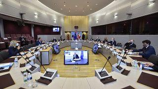 الاجتماع الثالث للجنة المشتركة بين الاتحاد الأوروبي والمملكة المتحدة في مقر الاتحاد في بروكسل، الإثنين  28 سبتمبر  2020