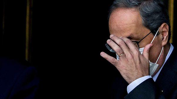 Le président indépendantiste de la Catalogne, Quim Torra, refuse sa destitution