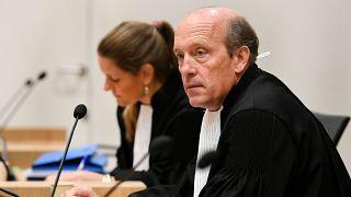 Sabine ten Doesschate, left, and Boudewijn van Eijck, lawyers of Oleg Pulatov, at the MH17 trial