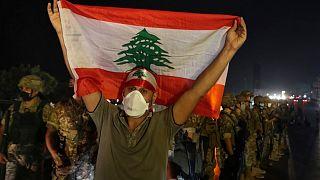 جانب من مظاهرات لبنان،  جل الديب، شمال بيروت، 27 سبتمبر 2020