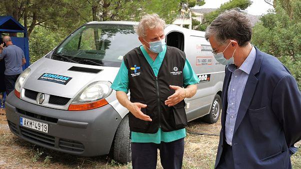 Ο Πρόεδρο της Επιτροπής Εμπειρογνωμόνων του Υπουργείου Υγείας, Καθηγητή Σωτήρης Τσιόδρας πραγματοποιεί αυτοψία στην Λακωνία