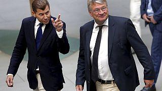 Christian Lüth, Ex-Sprecher der AfD-Fraktion mit Parteivorsitzender Jörg Meuthen