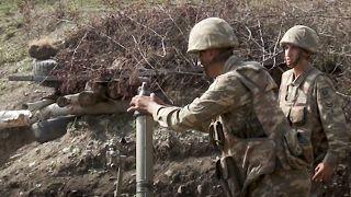 Cephe hattındaki Azerbaycan askerleri
